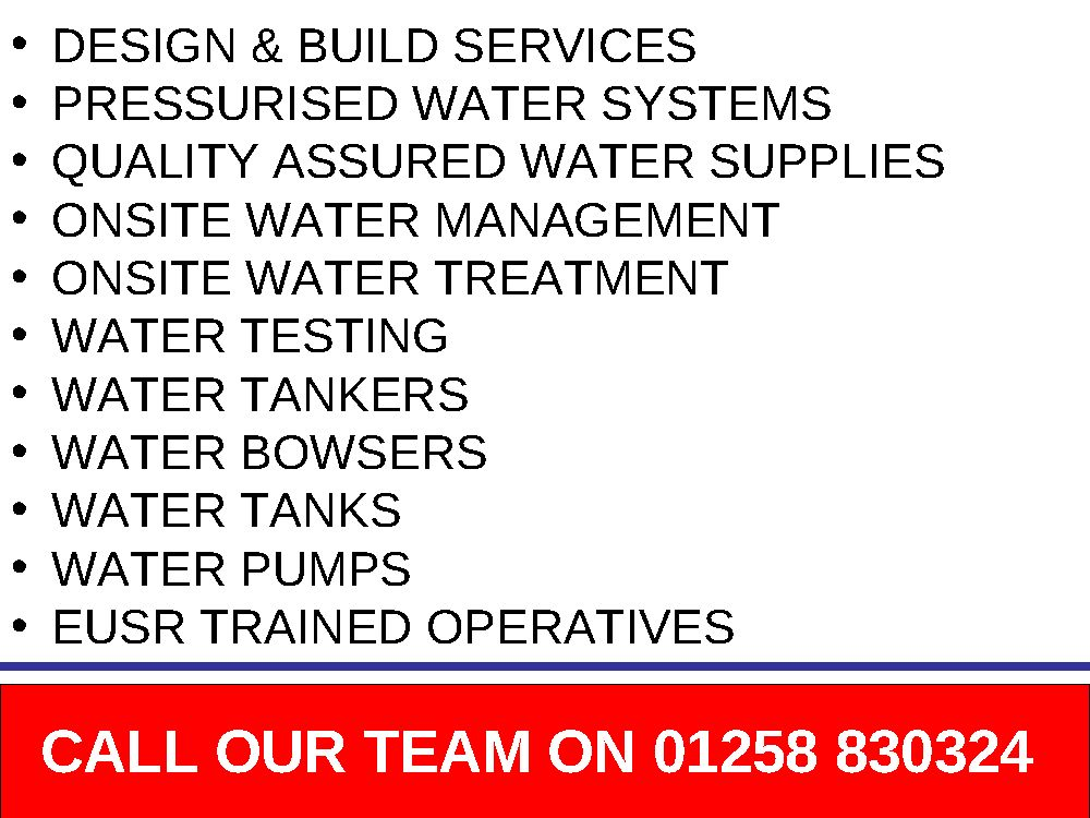 Event Water Supplies